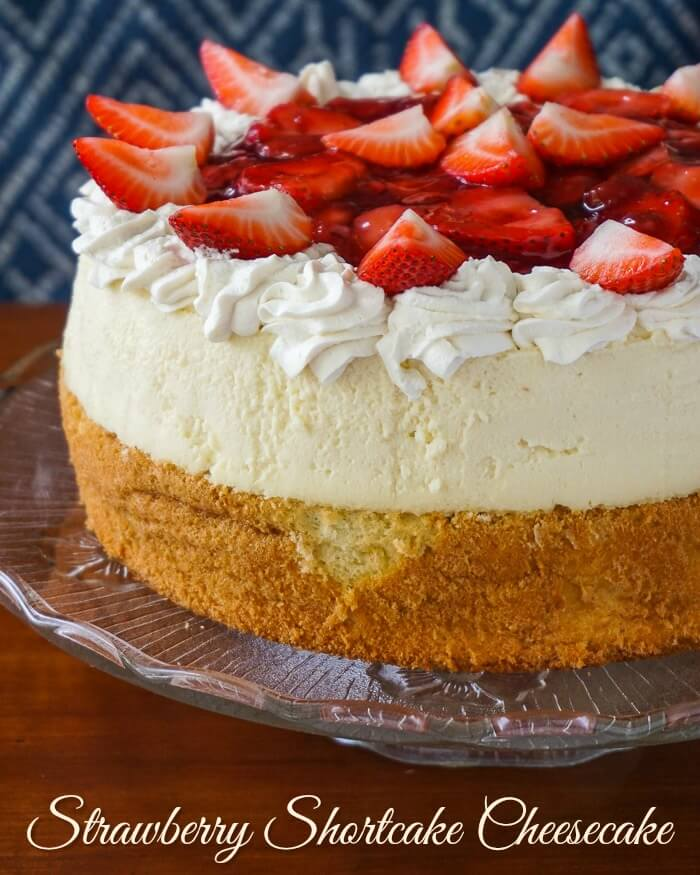 Strawberry Shortcake Cheesecake image with title text.