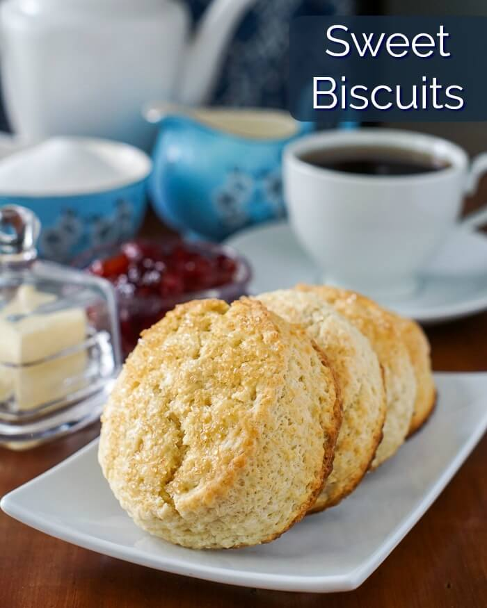 Sweet Biscuits with title text