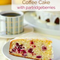 Lemon Sour Cream Coffee Cake with Partridgeberries