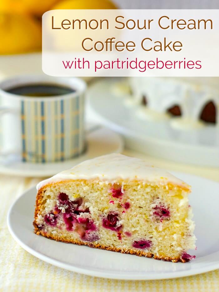 Lemon Sour Cream Coffee Cake image with title text