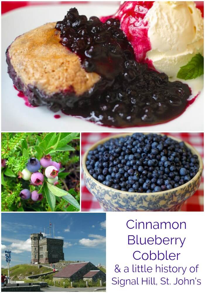 Cinnamon Biscuit Blueberry Cobbler image for Pinterest