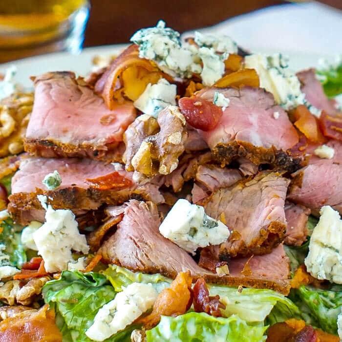 Steak Bacon Walnut Blue Cheese Caesar Salad 3