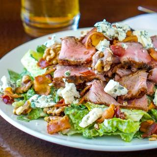 Steak Bacon Walnut Blue Cheese Caesar Salad