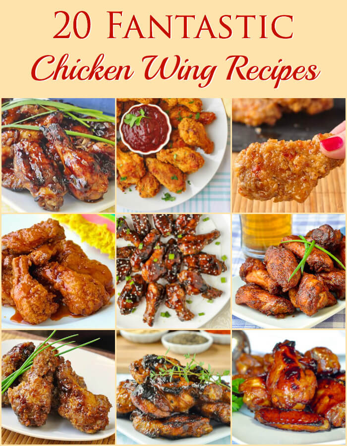 20 Fantastic Chicken Wing Recipes Facebook Collage