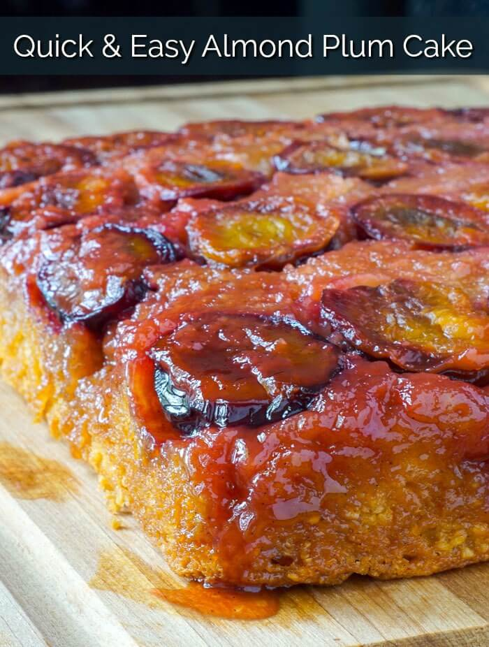 Almond Plum Cake image with title text