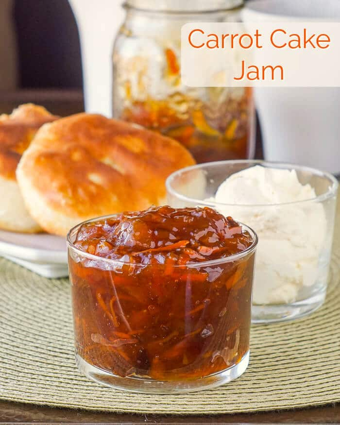 Carrot Cake Jam image with title text