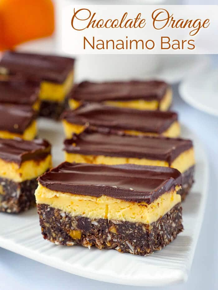 Chocolate Orange Nanaimo Bars image with text