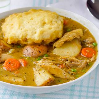 Drumstick Stew with Summer Savoury Gravy