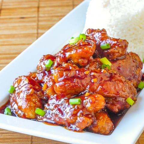 General Tso Chicken close up photo for featured image