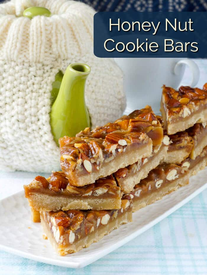 Honey Nut Cookie Bars image with title text
