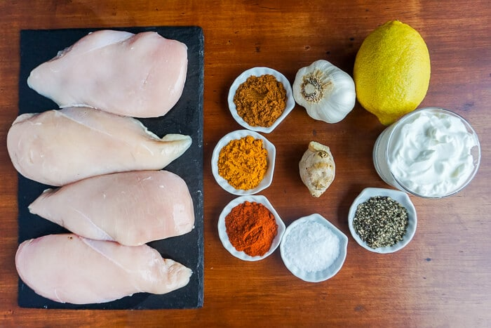 Tasty Tandoori Grilled Chicken with a Twist ingredients for marinade