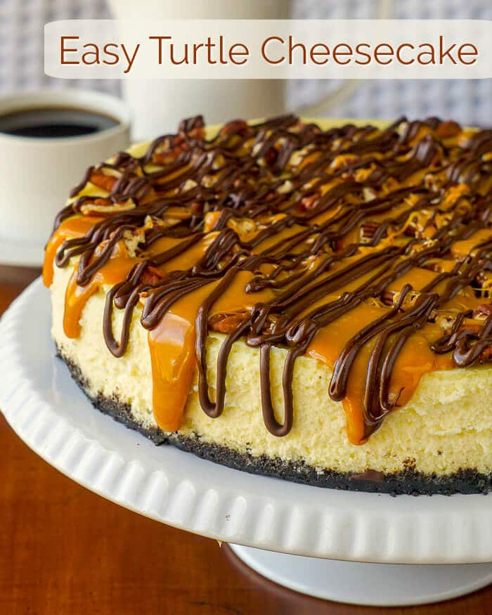 Turtle Cheesecake image with title text.