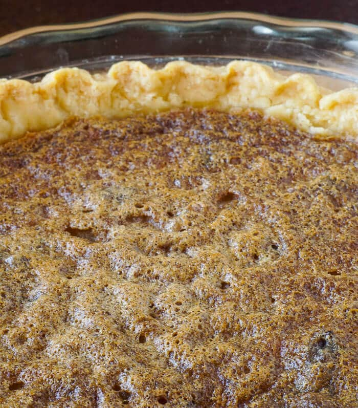 Vinegar Pie - look for an evenly brown top.