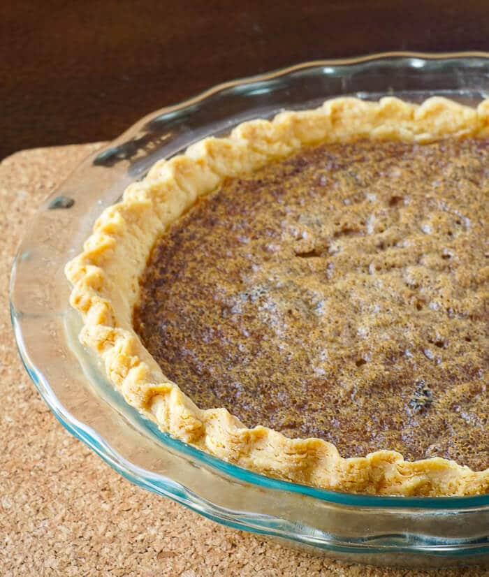 Vinegar Pie just out of the oven.