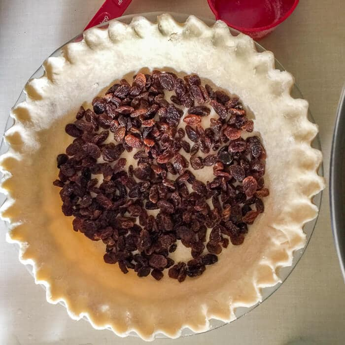 Vinegar Pie with or without raisins. You choose.