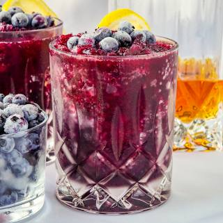 Blueberry Rum Slush