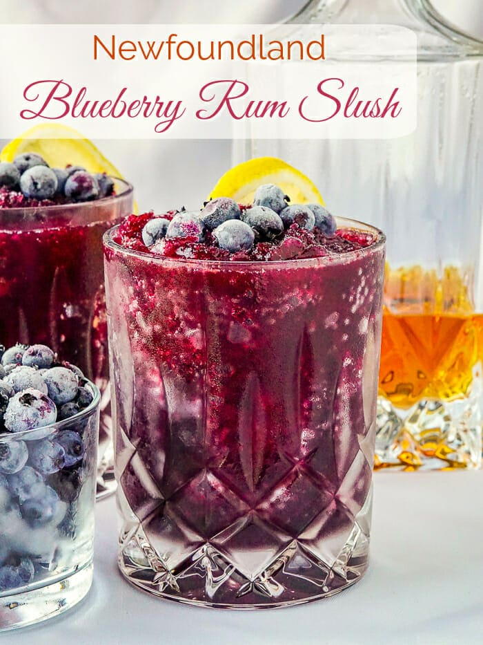 Blueberry Rum Slush image with title text