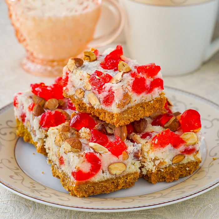 Cherry Almond Magic Bars