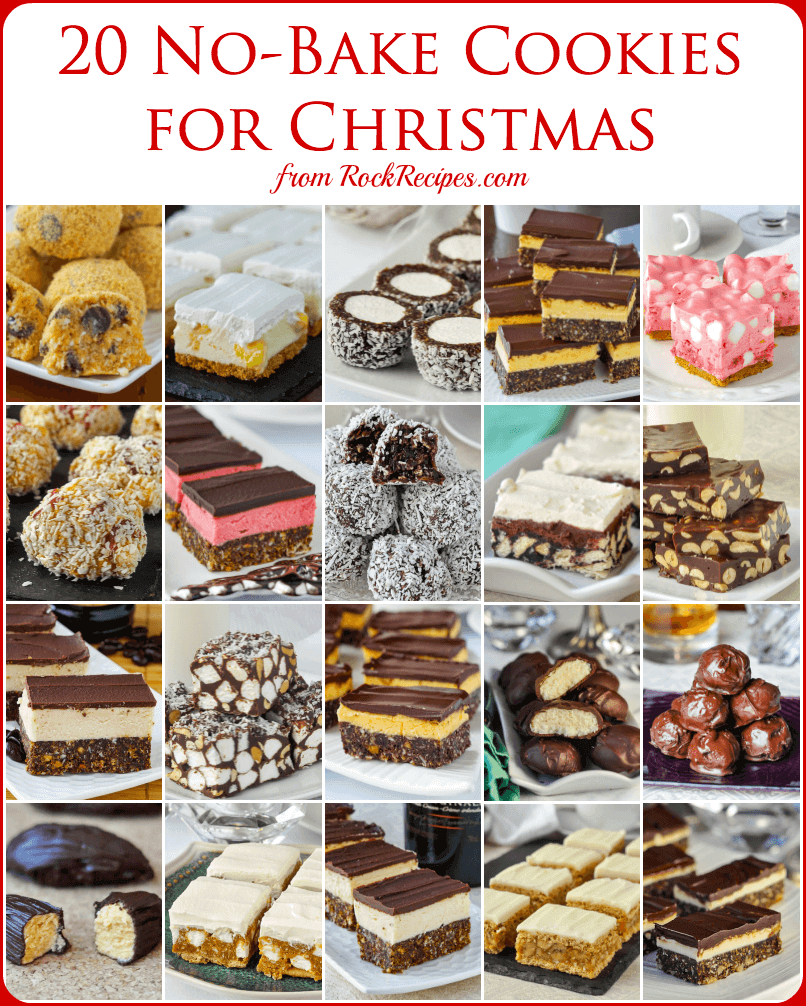 No Bake Christmas Cookies 20 Easy Recipes That Are Freezer