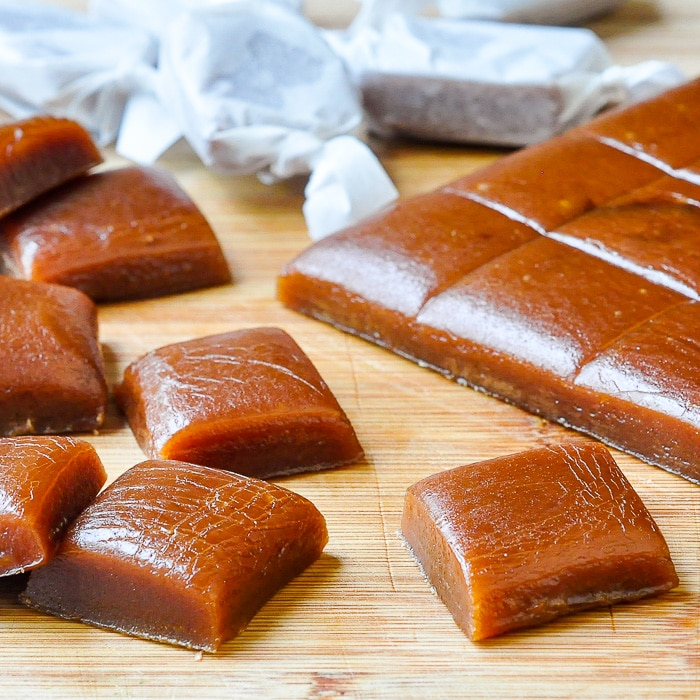 Homemade Chewy Caramels close up photo