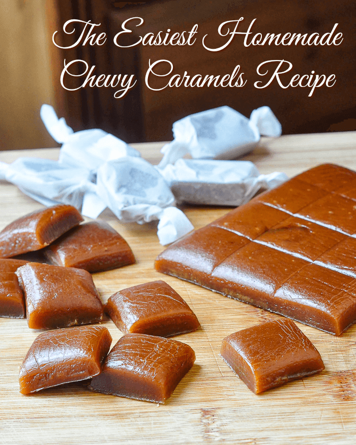 Homemade Chewy Caramels image with title text