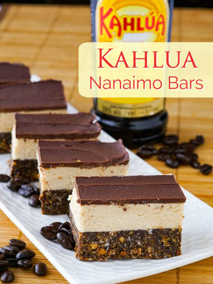 Kahlua Nanaimo Bars image with title text