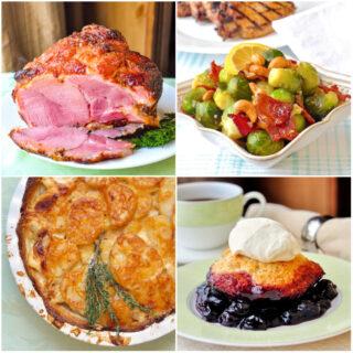 Baked Ham Dinner photo collage