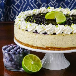 Blueberry Lime Cheesecake