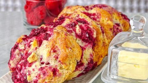 Raspberry White Chocolate Scones 00004