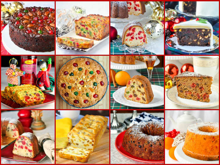 Photo collage of traditional Newfoundland Christmas Fruitcakes