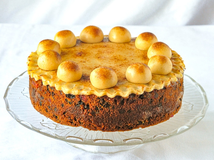 Easter Simnel Cake wide shot photo of entire cake