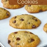 Banana Bread Cookies Image for Pinterest, shown with added title text graphic.
