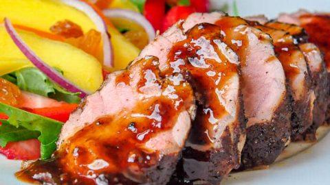 Rum Spice Glazed Pork Tenderloin featured image