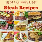 Best Steak recipes square featured image with title text