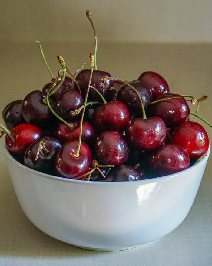 Bowl of cherries for Black Forest Pie