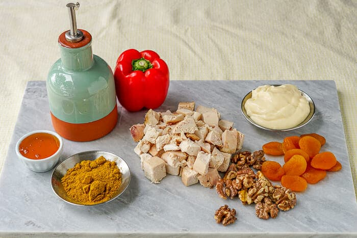Curry Chicken Salad ingredients
