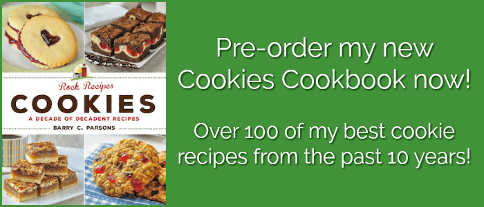 Preorder Rock Recipes Cookies Book promotional Photo.