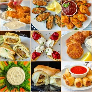 Best New Year's Eve Party Food Ideas photo collage for featured image