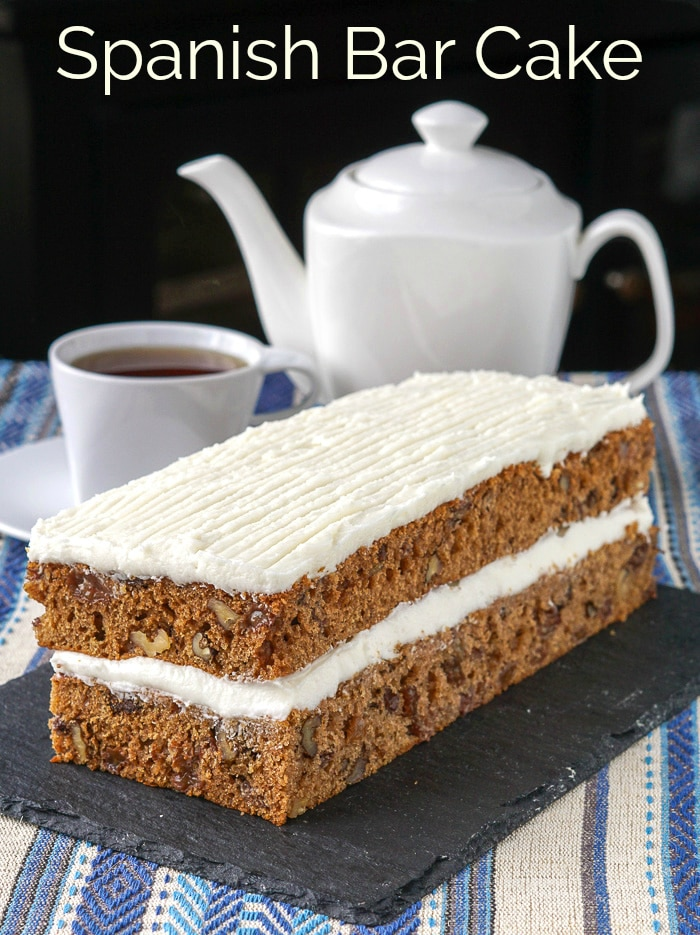Spanish Bar Cake. A real old fashioned treat! A supermarket favourite from years ago, this simple raisin spice cake is easy to make, moist and utterly delicious. #oldfashioned #JaneParker #easybaking #scratchcake