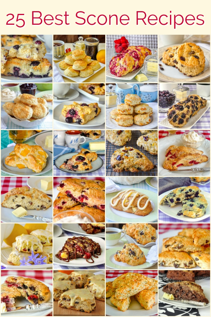 25 Best Scone Recipes image with title text for Pinterest