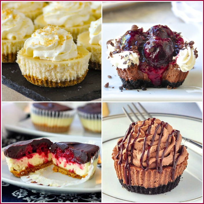 Mini Cheesecakes Collage for Pinterest