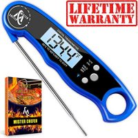 Waterproof Instant Read Thermometer - with Calibration and Backlight functions.
