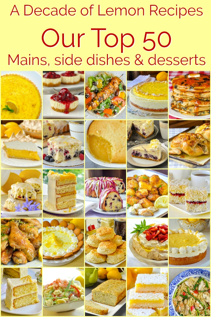 Best Lemon Recipes image collage with title text for Pinterest