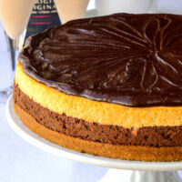 close up photo of Chocolate Truffle Irish Cream Cheesecake