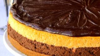 close up photo of Chocolate Truffle Irish Cream Cheesecake