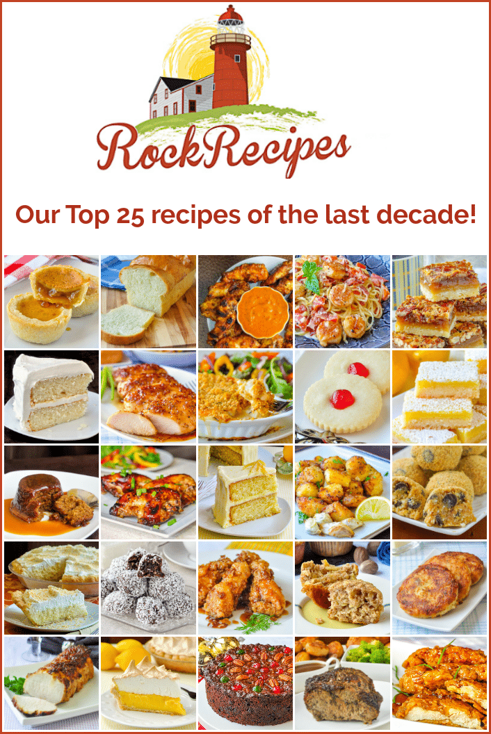 Rock Recipes most popular posts of the last decade image with title text for Pinterest