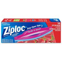 Ziploc Storage Bags with Easy Open Tabs - Large - 38 Bags