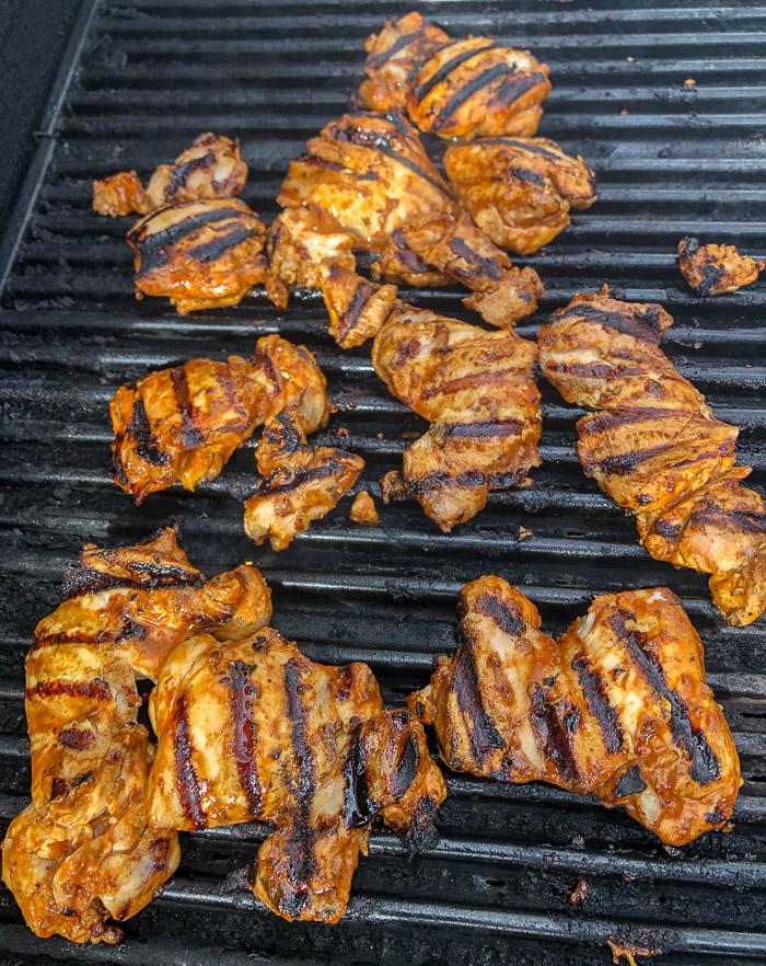 Grilling Chicken for Souvlaki wraps
