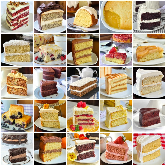 Top 10 Cake Recipes photo collage for featured image