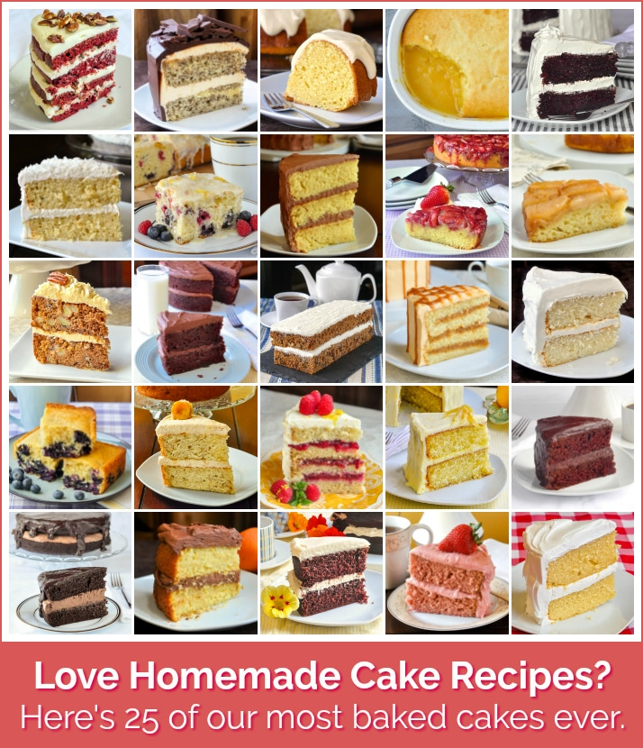 Top Ten cake recipes photo collage with title text for Pinterest
